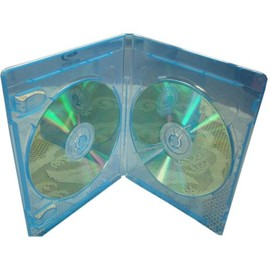 Double Blu-ray Case with Blu-ray Logo 100pk