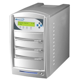 SharkNet 1 to 2 24x DVD / CD Duplicator 320GB Hard Drive - Silver