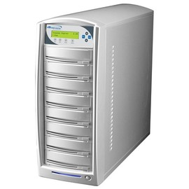 SharkNet 1 to 7 24x DVD / CD Duplicator 320GB Hard Drive - Silver