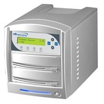 SharkCopier Sony OptiArc 20x 1 to 15 SATA DVD / CD Tower Duplicator 320GB HDD - Silver