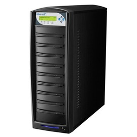 SharkCopier Sony OptiArc 20x 1 to 8 SATA DVD / CD Tower Duplicator 320GB HDD- Black