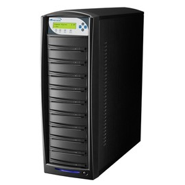 SharkCopier Sony OptiArc 20x 1 to 9 SATA DVD / CD Tower Duplicator 320GB HDD- Black
