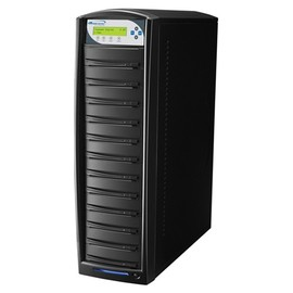 SharkCopier Sony OptiArc 20x 1 to 11 SATA DVD / CD Tower Duplicator 320GB HDD - Black