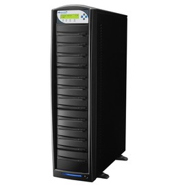 SharkCopier Sony OptiArc 20x 1 to 12 SATA DVD / CD Tower Duplicator 320GB HDD- Black