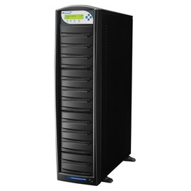 SharkCopier Sony OptiArc 20x 1 to 13 SATA DVD / CD Tower Duplicator 320GB HDD- Black