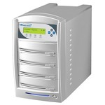 SharkCopier Pioneer 22x 1 to 3  SATA DVD / CD Tower Duplicator 320GB HDD- Silver