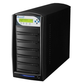 SharkCopier Pioneer 22x 1 to 5 SATA DVD / CD Tower Duplicator 320GB HDD- Black