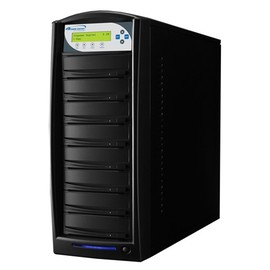 SharkCopier Pioneer 22x 1 to 7 SATA DVD / CD Tower Duplicator 320GB HDD- Black
