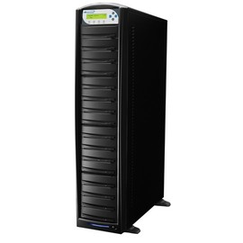 SharkCopier Sony OptiArc 24x 1 to 15 SATA DVD / CD Tower Duplicator 320GB HDD- Black