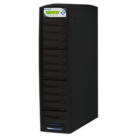 SharkCopier Daisy Chain DC15 1:15 24X SATA DVD / CD Tower Duplicator w / 320GB HDD - Black