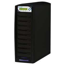 SharkCopier Daisy Chain DC10 1:10 24X SATA DVD / CD Tower Duplicator w / 320GB HDD - Black