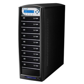 SharkNet HDD to 9 12x Blu-ray  DVD CD Duplicator 500GB Hard Drive - Black
