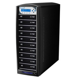 SharkBlu SATA HDD to 10, Pioneer 15x Blu-ray DVD CD Duplicator with 500GB HDD & USB 3.0 Multi-File CopyConnect - Black