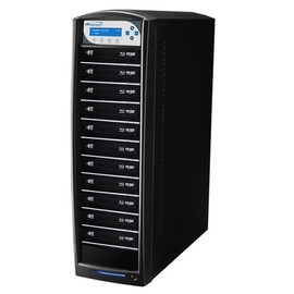 SharkBlu SATA HDD to 11, Pioneer 15x Blu-ray DVD CD Duplicator with 500GB HDD & USB 3.0 Multi-File CopyConnect - Black
