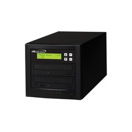 Econ 12x SATA 1:1 Blu-ray DVD CD Duplicator Tower 500GB HDD No Reader with Black Standard Steel Casing
