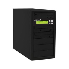 Econ 12x SATA 1:2 Blu-ray DVD CD Duplicator Tower 500GB HDD No Reader with Black Standard Steel Casing