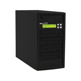 Econ 12x SATA 1:4 Blu-ray DVD CD Duplicator Tower 500GB HDD No Reader with Black Standard Steel Casing