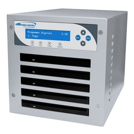 Slim Micro 5 Drive Blu-ray/DVD/CD Duplicator Tower with 320GB HDD + USB CopyConnect + Network + CopyProtection - Silver