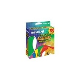 Sleeves CD / DVD Multi-Color 100pk