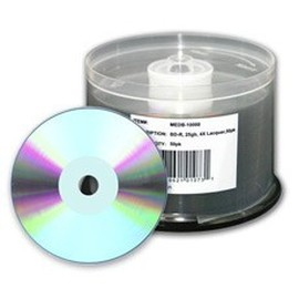BD-R Blu-ray 6x 25GB Shiny Silver Thermal Hub Print 300pk Case
