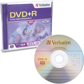 DVD+R 16x 4.7GB Branded 1pk Jewel Case