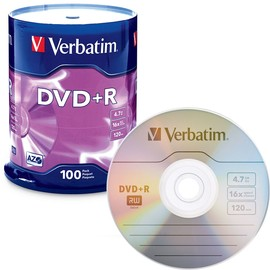 AZO DVD+R 16x 4.7GB Branded 100pk Spindle/600 Case