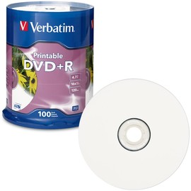 DVD+R 16x 4.7GB White Inkjet Print 100pk Spindle
