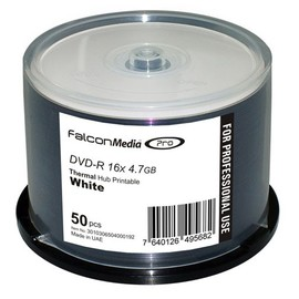 DVD-R 16x 4.7GB White Thermal Hub Print (Everest - Teac P55) 50pk Spindle