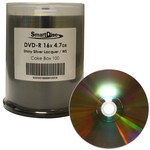 DVD-R 16x 4.7GB Shiny Silver Thermal Print 100pk Spindle