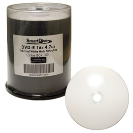 DVD-R 16x 4.7GB White Thermal Hub Print (Prism - Everest - Teac P55) 100pk