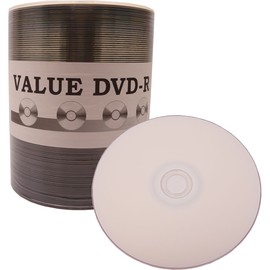 Value Line DVD-R 16x 4.7GB White Inkjet Hub Print 100pk Spindle