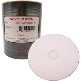 DVD-R 16x 4.7GB White Inkjet Hub Print 100pk Spindle