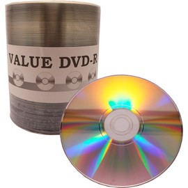 Value Line DVD-R 16x 4.7GB Shiny Silver Thermal Hub Print 600pk Case