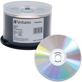DVD-R 8x 4.7GB Shiny Silver Thermal Print 50pk Spindle