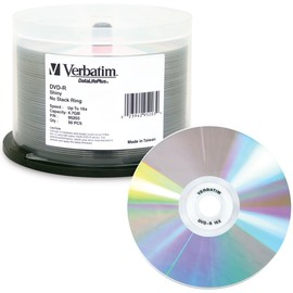 DVD-R 16x 4.7GB Shiny Silver Thermal Print 50pk Spindle