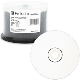 DVD-R 16x 4.7GB White Inkjet Print 50pk Spindle