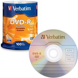 DVD-R 16x 4.7GB Branded 100pk Spindle