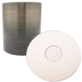CD-R 52x 80min 700MB White Thermal Print 100pk Spindle
