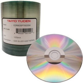 CD-R 52x 700MB Silver Thermal Hub Print (Everest - TEAC P55) 100pk