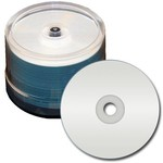 WaterShield CD-R 52x 80min 700MB Silver Inkjet Hub Print 50pk Spindle