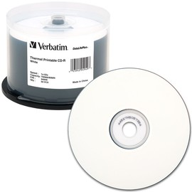 DataLifePlus CD-R 52x 700MB White Thermal Print (Everest - TEAC P55) 50pk Spindle