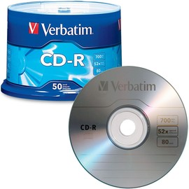 CD-R 52x 80min 700MB Branded 50pk Spindle
