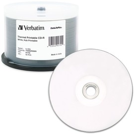 DataLifePlus CD-R 52x 700MB White Thermal Hub Print (Everest - TEAC P55) 50pk Spindle