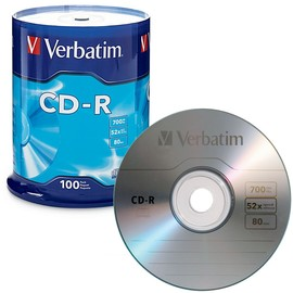 CD-R 52x 80min 700MB Branded 100pk Spindle