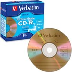 UltraLife Gold Archival Grade CD-R 52x 80min 700MB Branded 5pk Jewel Case