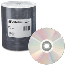 DataLifePlus CD-R 52x 80min 700MB Shiny Silver Thermal Print 100pk Spindle
