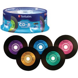 CD-R 52x 80min 700MB Digital Vinyl 25pk Spindle
