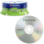 CD-RW 12x 80min 700MB Branded 25pk Spindle