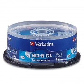 BD-R DL Blu-ray 6x 50GB Branded 25pk Spindle