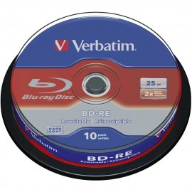 BD-RE Blu-ray 2x 25GB Branded 10pk Spindle